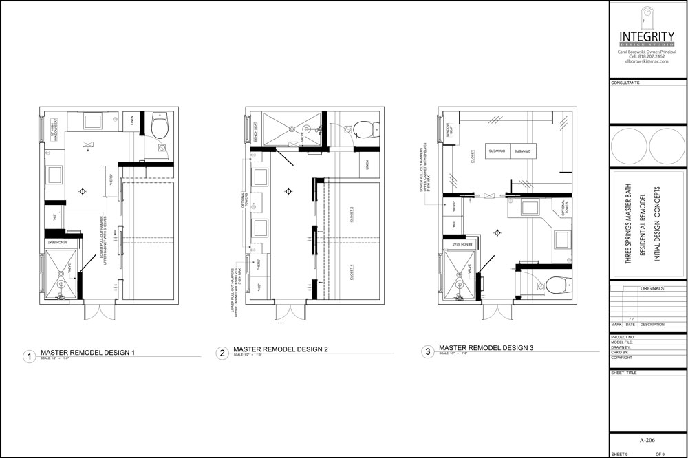 space planning architectural drawing